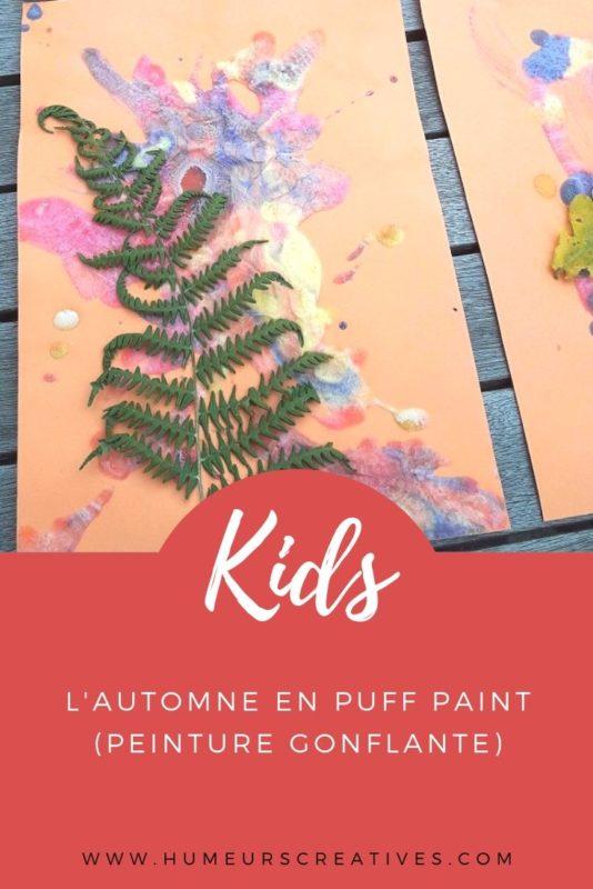 Activité d'automne pour enfants : l'automne en puff paint