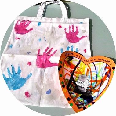 DIY sac en coton personnalisé par les enfants