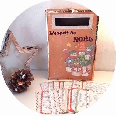 boite aux lettres de noel Esprit de Noël (activités pour enfants)