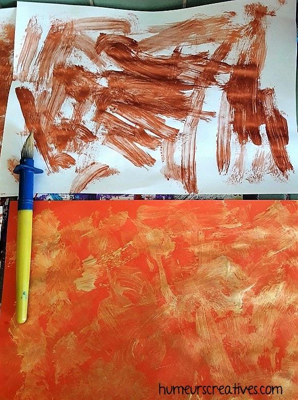 calendrier de l'avent enveloppes - peinture aux pinceaux