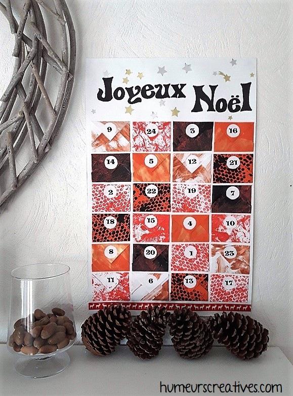 Notre calendrier de l'avent sous forme de petites enveloppes - version de Noël 1