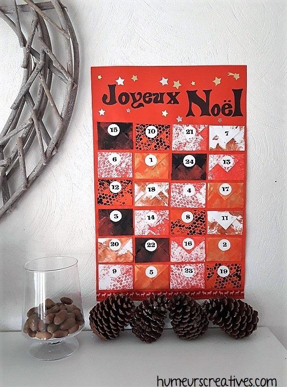 Notre calendrier de l'avent sous forme de petites enveloppes - version de Noël 2