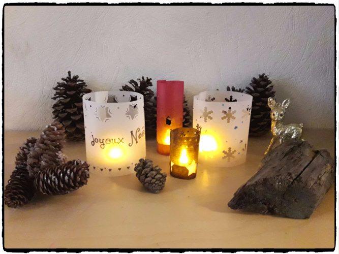 Photophore de Noël en papier
