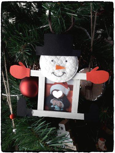 Cadre bonhomme de neige