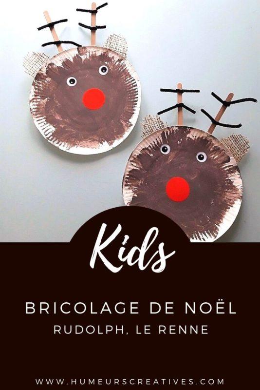 Bricolage de noel pour enfants : fabriquer un renne avec une assiette en carton
