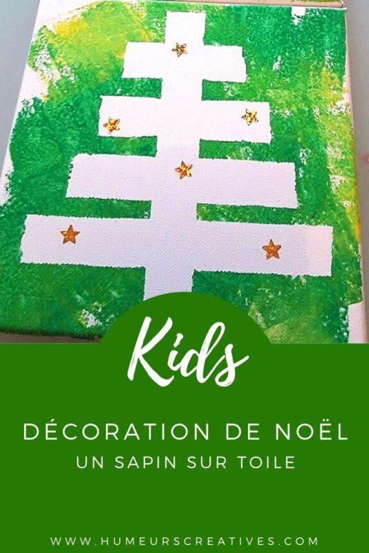Bricolage de Noël pour enfants : réaliser un sapin sur toile