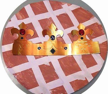 galette des rois à fabriquer avec les enfants