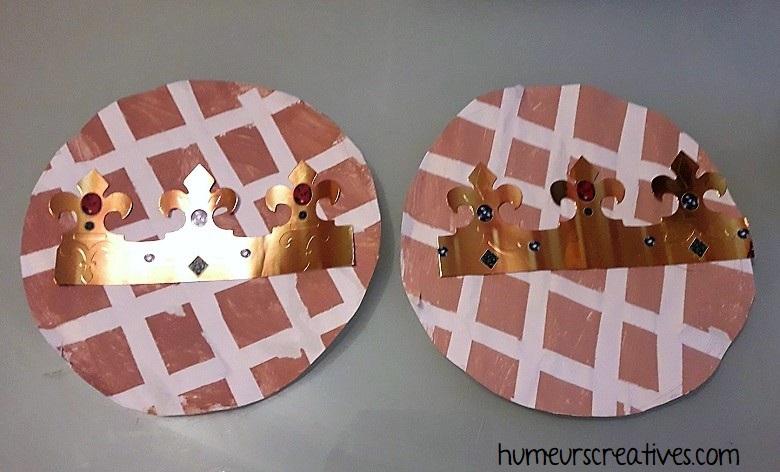 bricolage galette des rois en carton et en masking tape