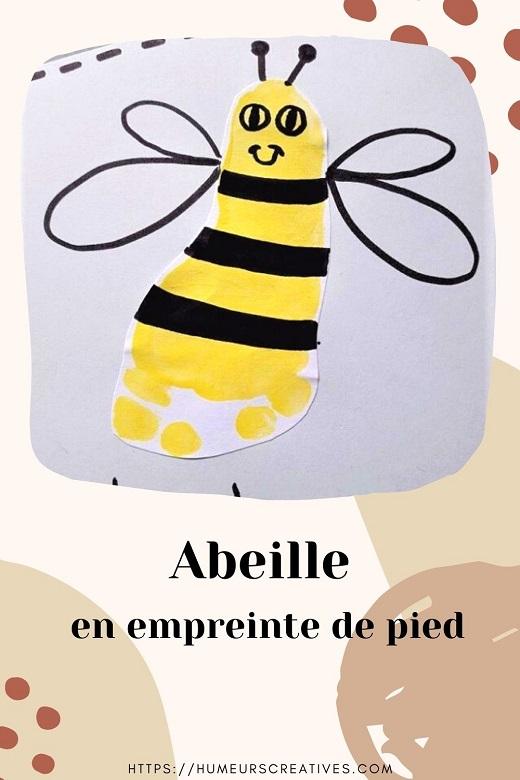 Bricolage pour enfants : réaliser une abeille avec les empreintes de pieds des enfants