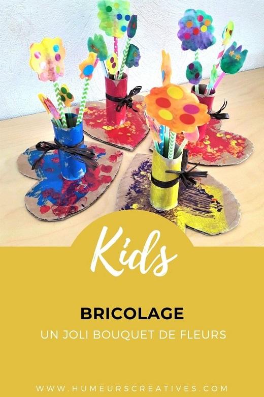 Cadeau pour la fête des mamies : un bouquet de fleurs à fabriquer avec les enfants