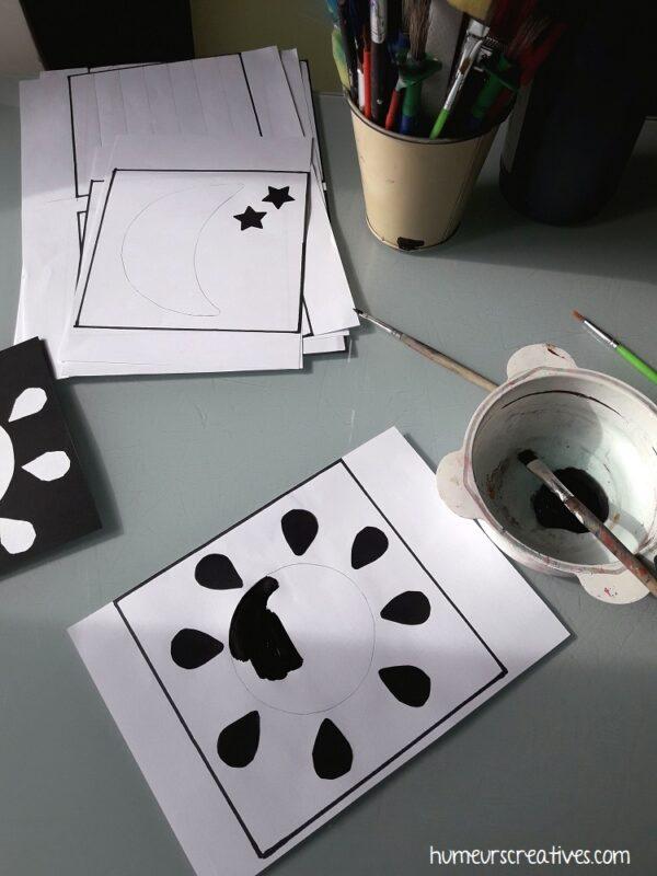 créer des cartes contrastées pour bébé