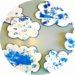 Activité manuelle de printemps : nuages bleus à décorer