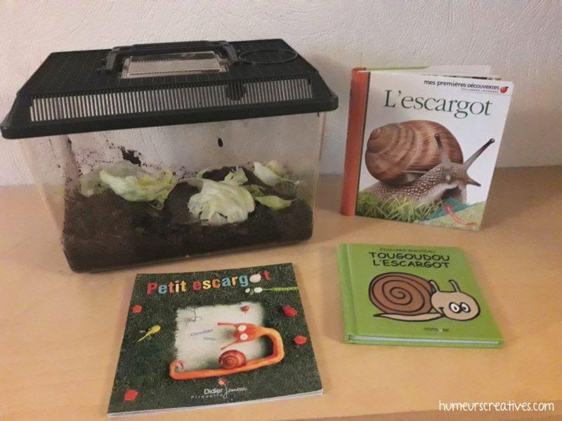 sélection de livres sur les escargots