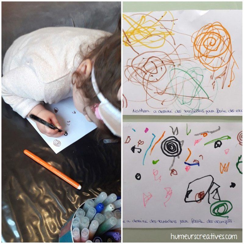 dessiner des spirales avec un feutre