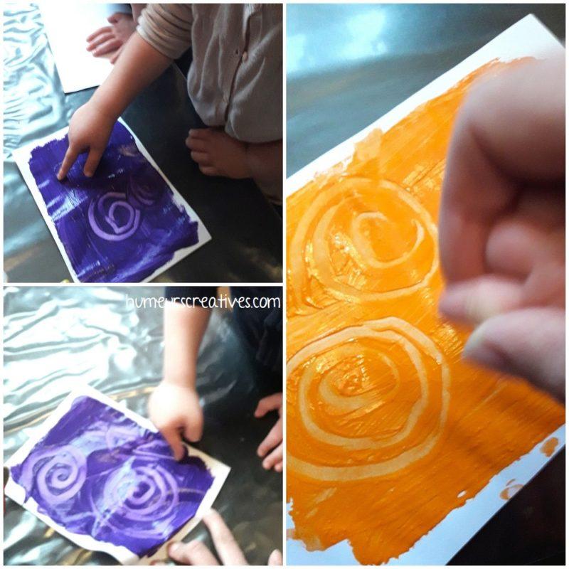 dessiner des spirales dans la peinture