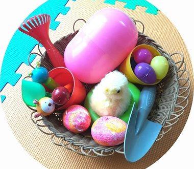 Boîte à trésors pour bébé sur le thème de Pâques