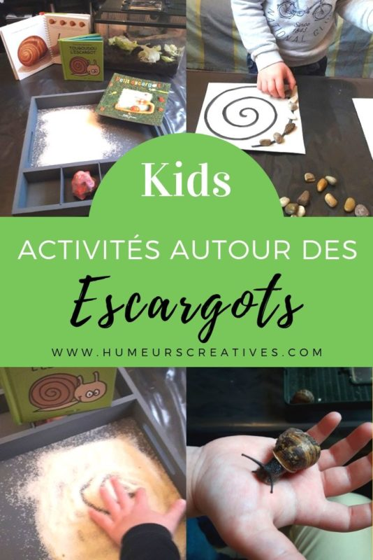 Activités pour enfants sur les escargots : observation et découvertes, livres, jeux et activités manuelles à faire avec des tout-petits