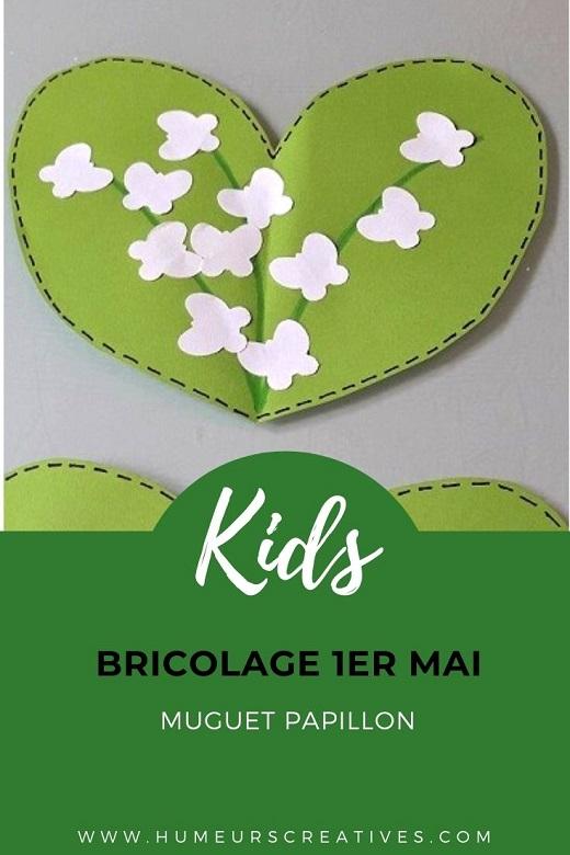 Bricolage 1er mai : collage de papillon pour réaliser le muguet avec les enfants