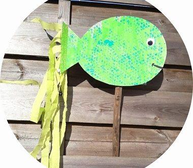 Un poisson fabriqué avec les enfants pour le 1er avril
