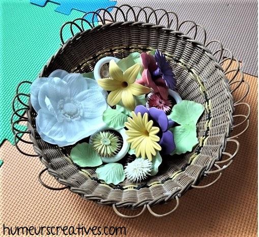 boîte à trésors pour bébé sur le thème des fleurs