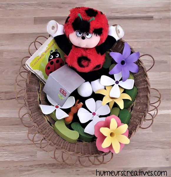 panier à trésors bébé sur le printemps