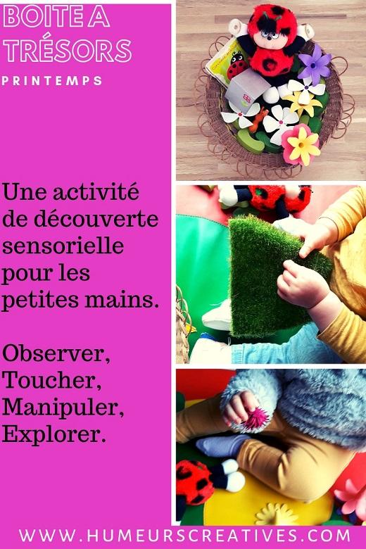 Idées de boîtes à trésors pour bébé sur le thème du printemps