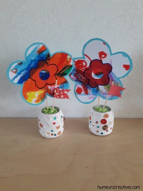 fleurs réalisés par les enfants