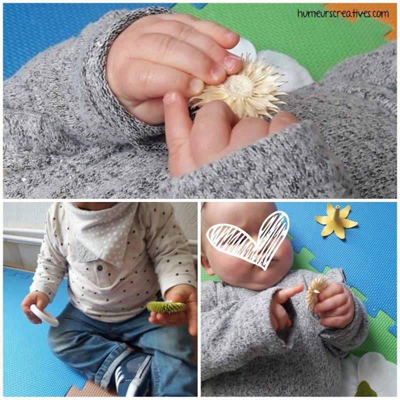 boite à trésors pour bébé sur le thème des fleurs