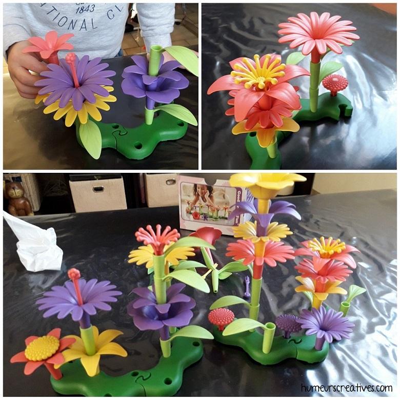 jeu enfants : créer des bouquets de fleurs