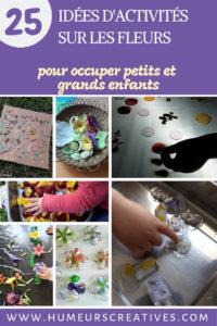 25 activités pour enfants sur le thème des fleurs