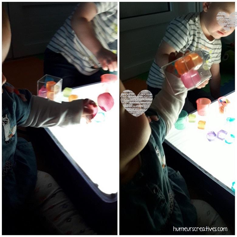 découverte de la table lumineuse pour les bébés
