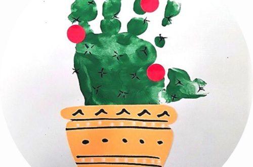 bricolage cactus main pour les enfants