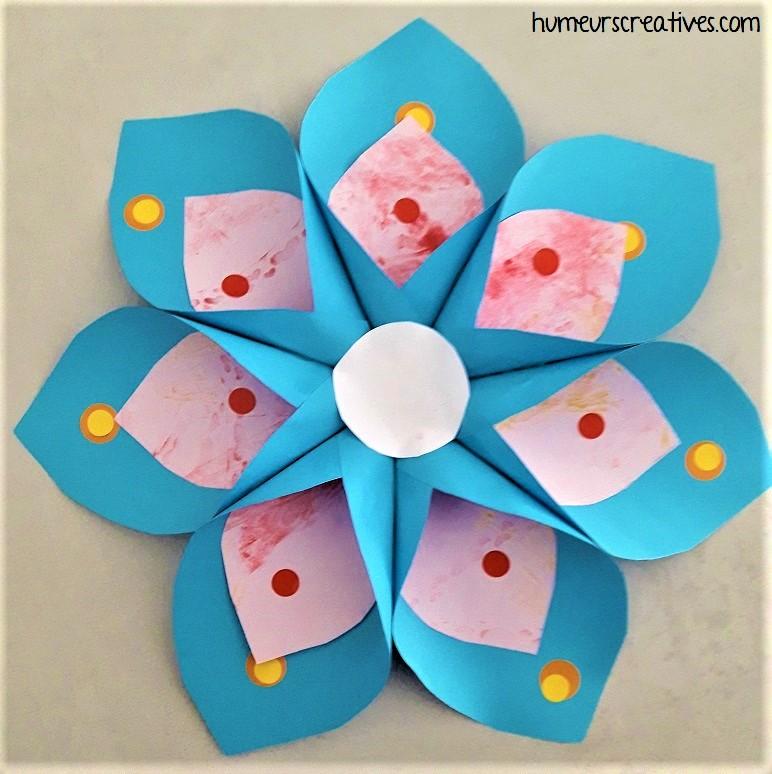 fleur en papier diy