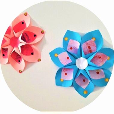 Fleur tropical en papier à faire avec les enfants