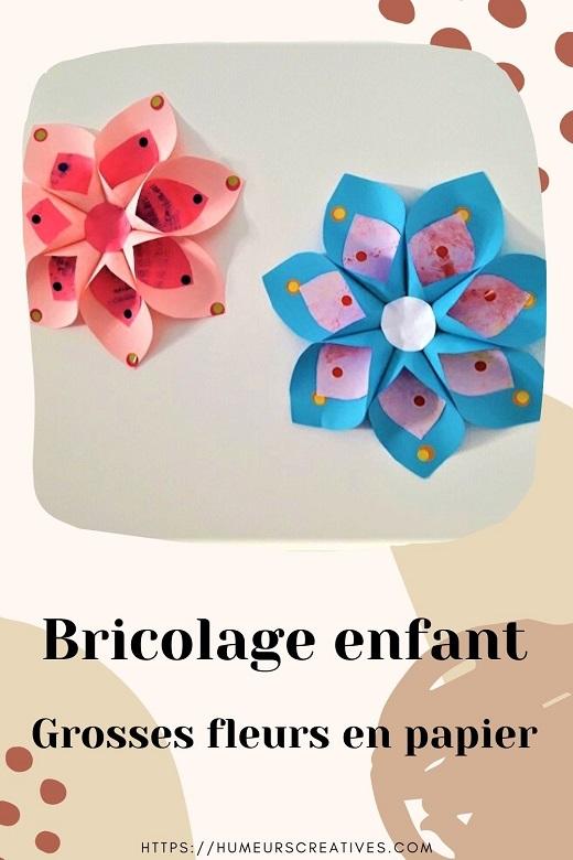 Bricolage pour enfants; fabriquer une fleur tropical en papier