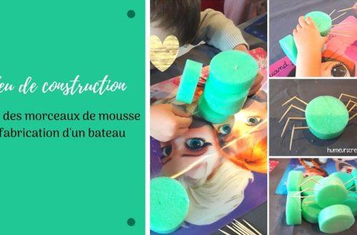 Activité pour enfant : un jeu de construction en mousse fait maison