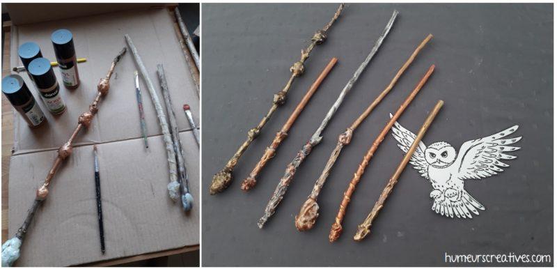 réalisation des baguettes magiques d'harry potter, DIY et bricolage