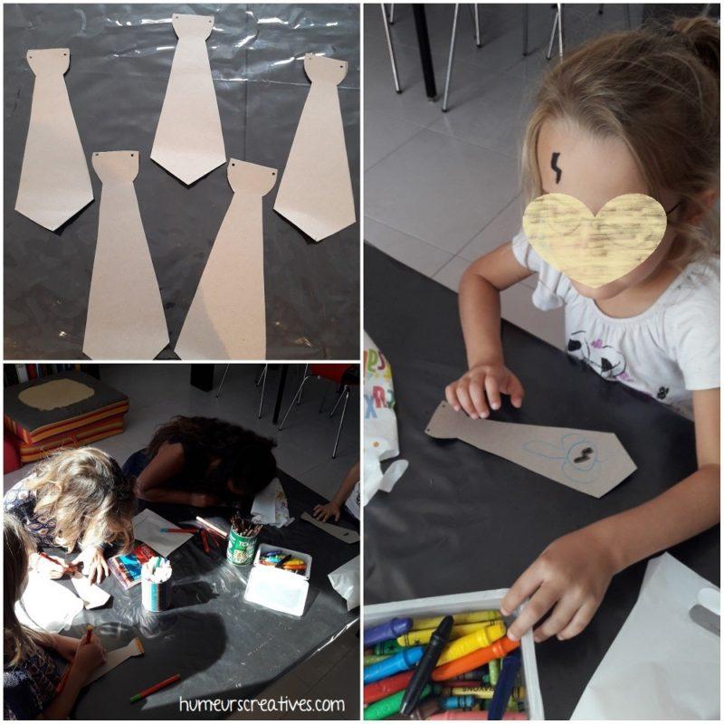anniversaire harry potter : bricolage d'une cravate