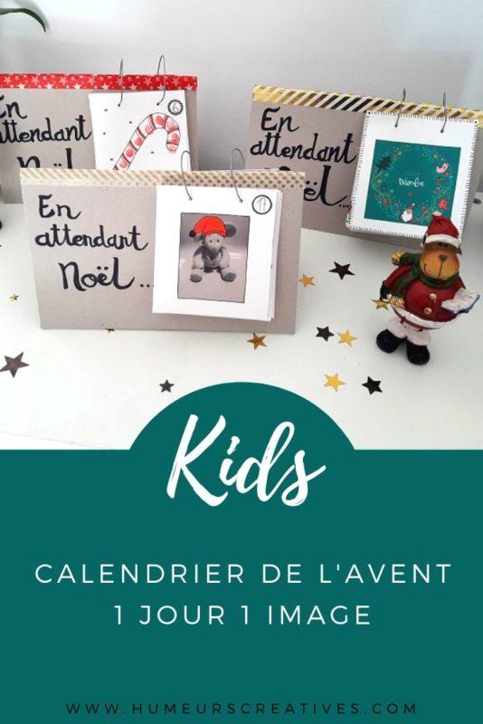 Bricolage calendrier de l'avent à fabriquer avec les enfants - 1 jour 1 image