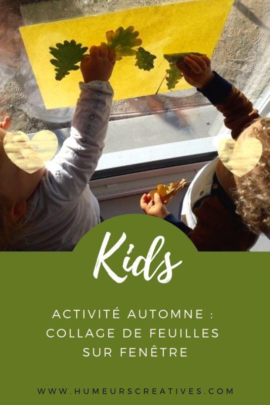 Activité d'automne pour les tout-petits : collage de feuilles sur fenêtres