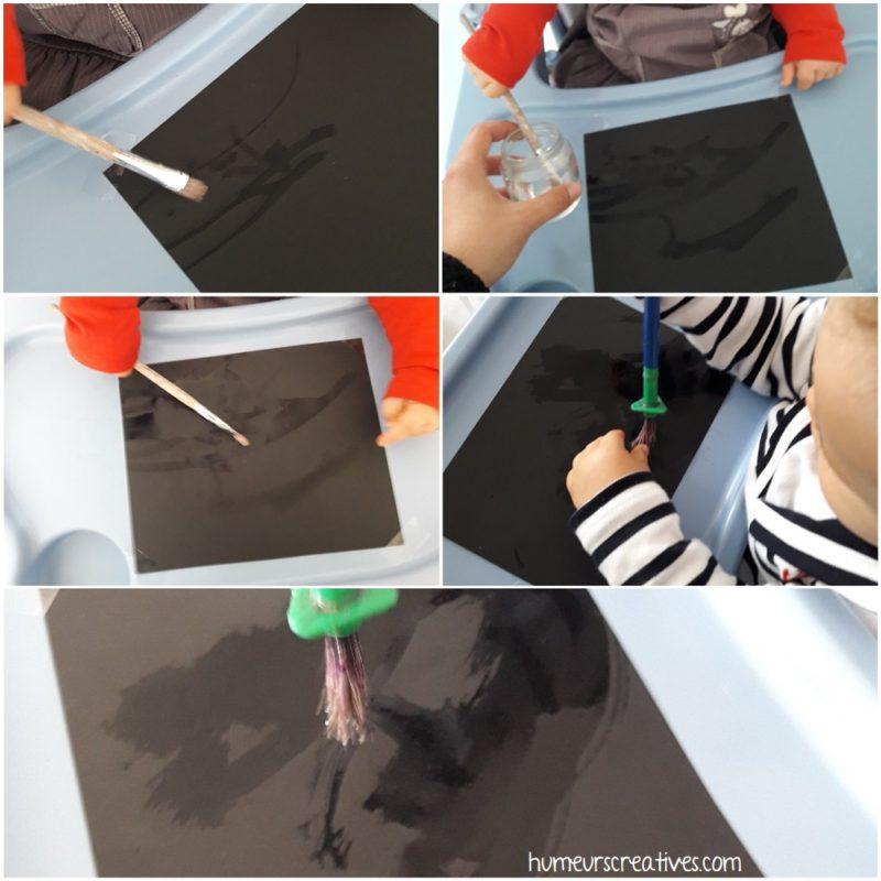 peinture avec de l'eau pour les bébés