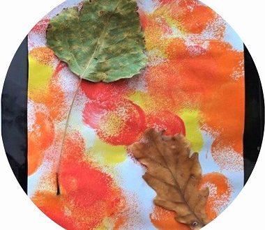 bricolage d'automne avec les enfants : peinture et collage