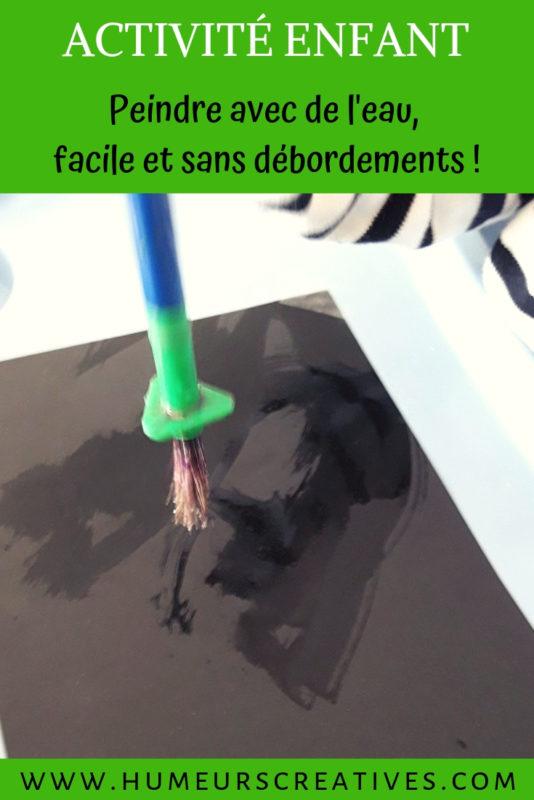 activité enfant : peindre facilement avec de l'eaui