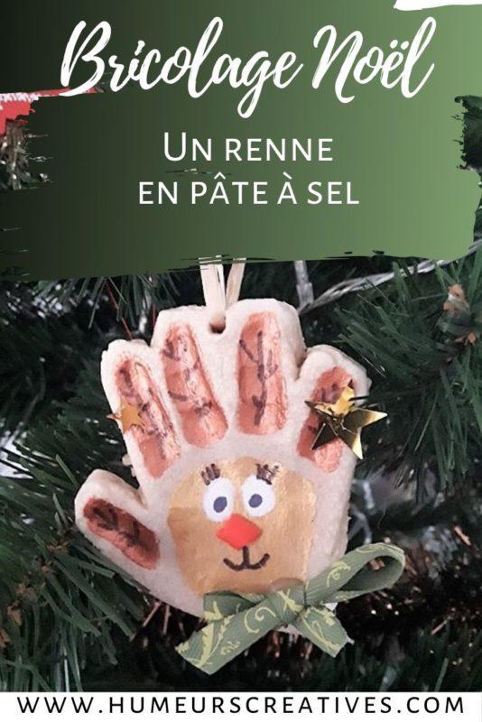 Bricolage de noel pour enfants : suspension renne de Noël