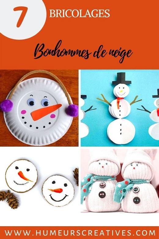 7 bricolages de bonhommes de neige diy