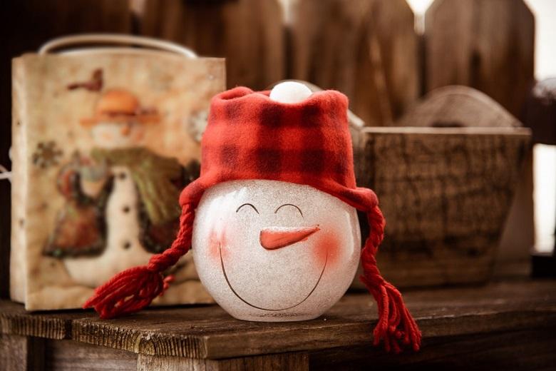 diy bonhomme de neige en verre