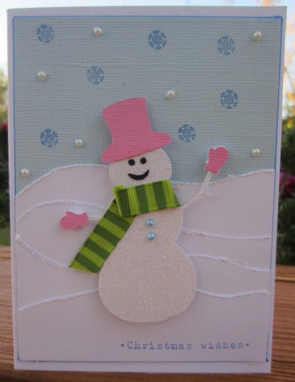 diy carte de voeux bonhomme de neige