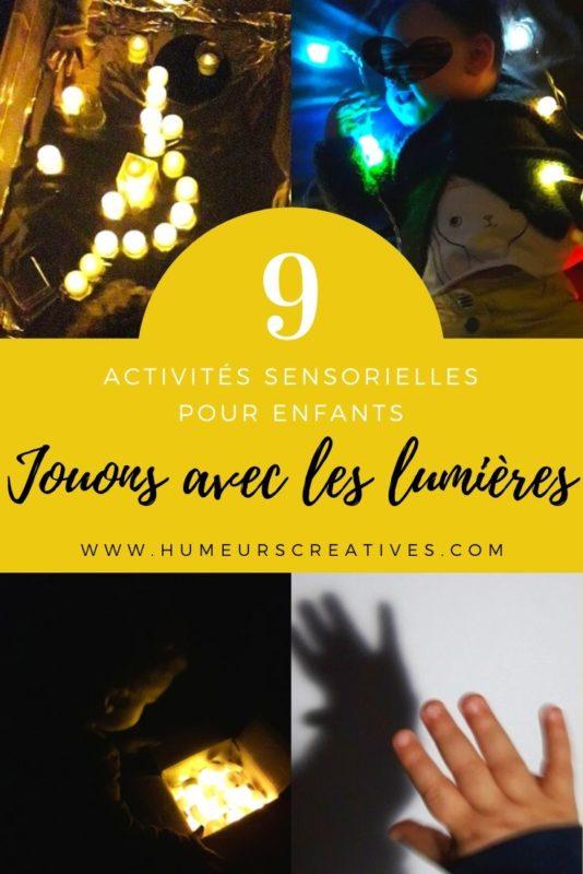 9 idées d'activités pour enfants : jouer avec des lumières