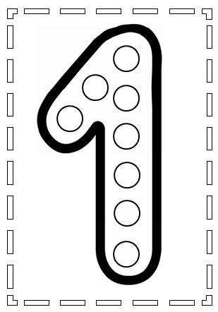 planche de gommettes chiffres à télécharger