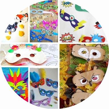 15 idées de masques pour enfants pour le carnaval